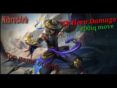 Gameplay Stiletto | Op DMG by ADC | Comeback | Hard game | Heroes Evolved