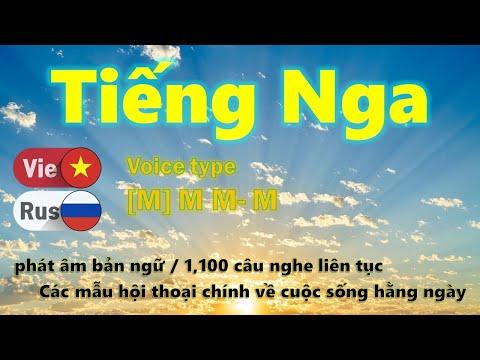 Học tiếng Nga [14] Bài Ôn tập / Học khi bạn ngủ,  Các hội thoại Ngắn và Dễ 1,100 câu,