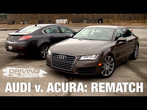 Driving Sports TV - 2012 Audi A7 vs. Acura TL: Rematch
