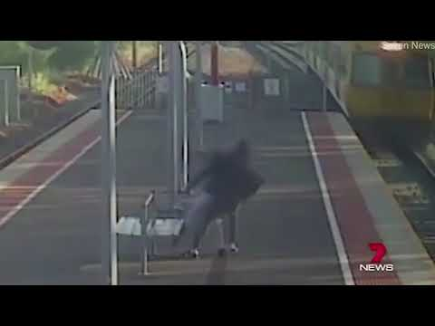 None - OMG! Tries To Throw Girlfriend In Front Of Train!!