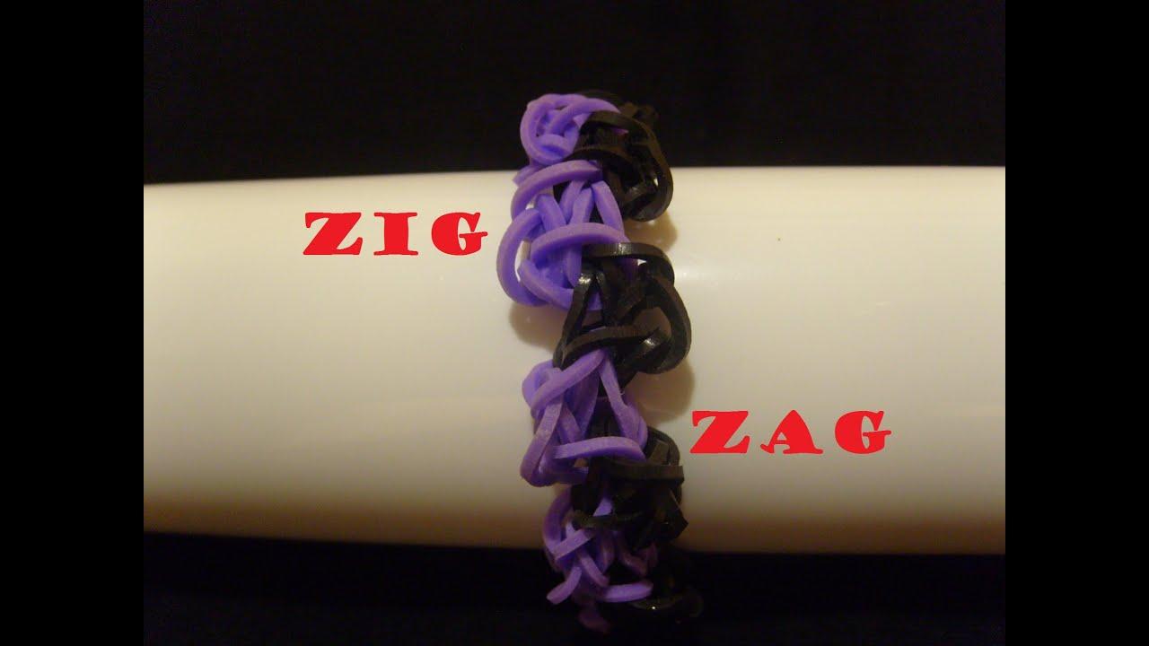 bracelet elastique zigzag tuto francais facile rainbow. Black Bedroom Furniture Sets. Home Design Ideas