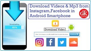 Download Videos & Mp3 from Instagram, Facebook in Android Smartphone