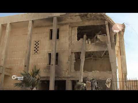 غارات جوية تؤدي الى دمار مبنى البنك المركزي في إدلب  - 17:21-2018 / 3 / 11