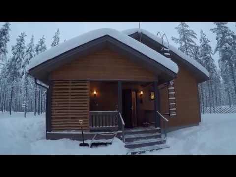 Финляндия. Финский дом. Новогодние каникулы. Деревня Санта Клауса.