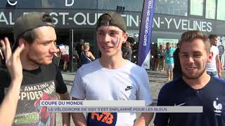 Coupe du monde 2018 : Le Vélodrome de SQY s'est enflammé pour les Bleus