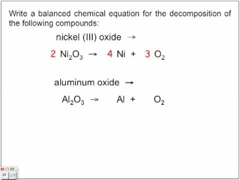 Decomposition Reactions Youtube