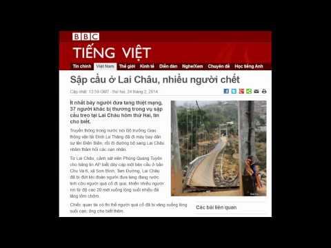 24.02.2014 - BBC Vietnamese - Sập cầu ở Lai Châu, nhiều người chết