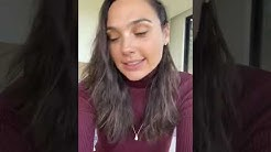Gal Gadot singing Imagine with other stars