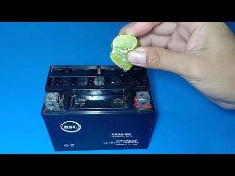 How to repair a dead dry lead acid battery using lemon