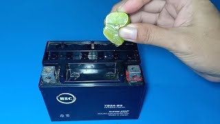 How to repair a dead dry lead acid battery using lemon