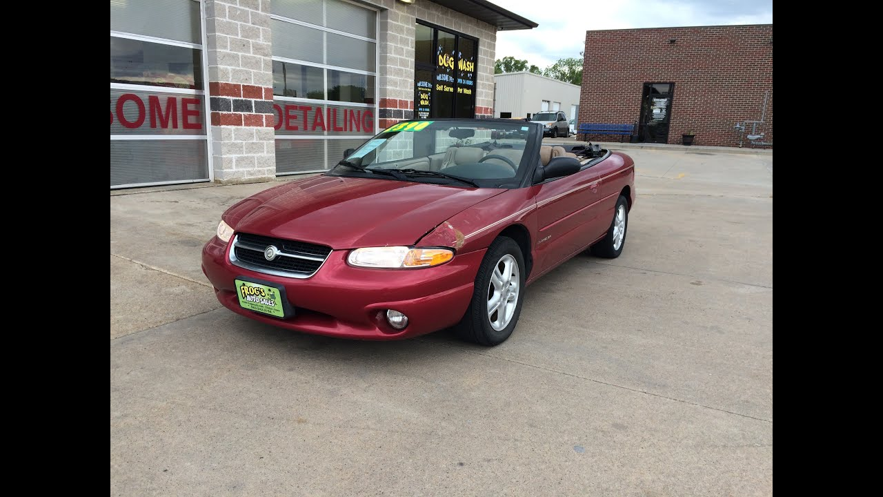 Maxresdefault on 1997 Chrysler Sebring Convertible 2 5