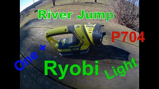 Ryobi work Light tool P704 18V one+ Battery Operated Light review and Thoughts from River Jumper.
