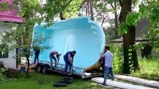 Стекловолоконный бассейн. Домашний Океан .Строительство бассейна(, 2016-08-17T13:29:02.000Z)