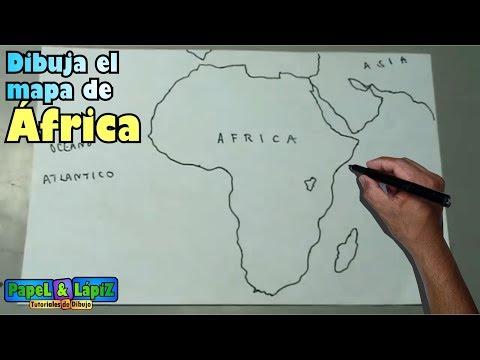 Como Dibujar Facil El Mapa De Africa Continente Maps Youtube