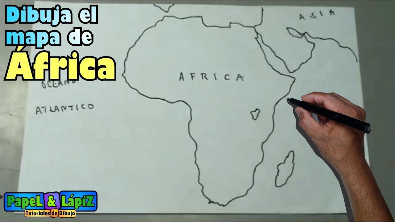 Cómo Dibujar Fácil El Mapa De Africa Continente Maps