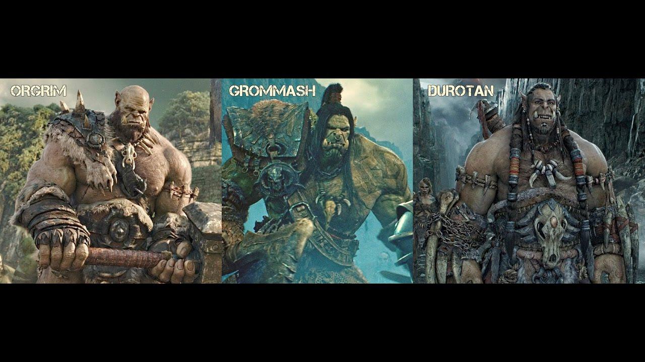 Warcraft Orc Legends Durotan Orgrim Doomhammer Grommash Hellscream Youtube