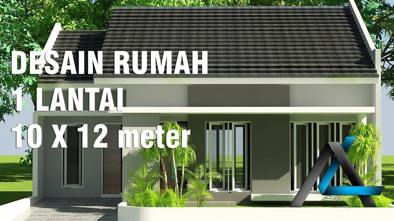 Desain Rumah 10x12 Meter 1 Lantai YouTube