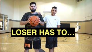 1v1 vs qias omar basketball loser bet