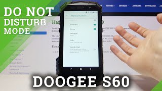 How to Enable Do Not Disturb Mode on DOOGEE S60 – Turn On Do Not Disturb Mode