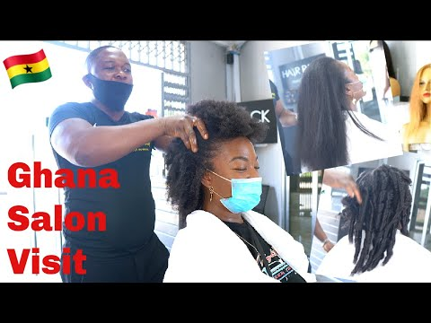 Accra, Ghana Natural Hair Salon Visit