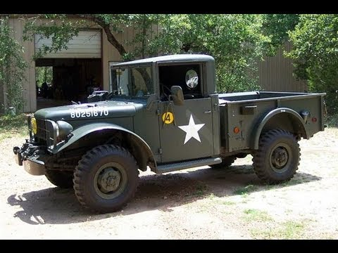 Dodge Power Wagon For Sale >> 1952 DODGE M37 ARMY TRUCK 4WD walk around - YouTube