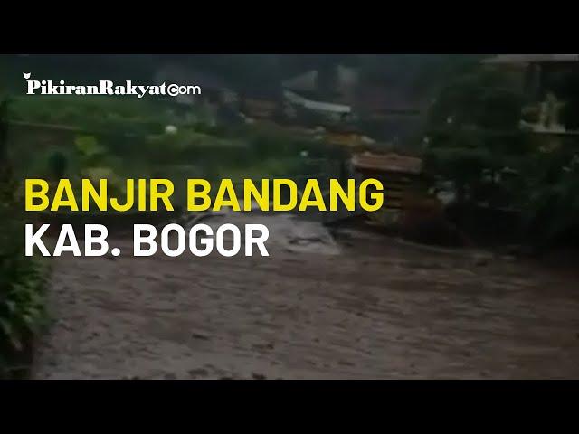 Banjir Bandang di Kab. Bogor tak Timbulkan Korban Jiwa, Namun 464 Orang Warga Harus Dievakuasi