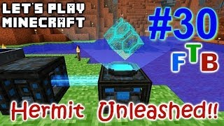 Minecraft FTB Hermitcraft Unleashed Ep. 30 - Force Field Base - MFFS