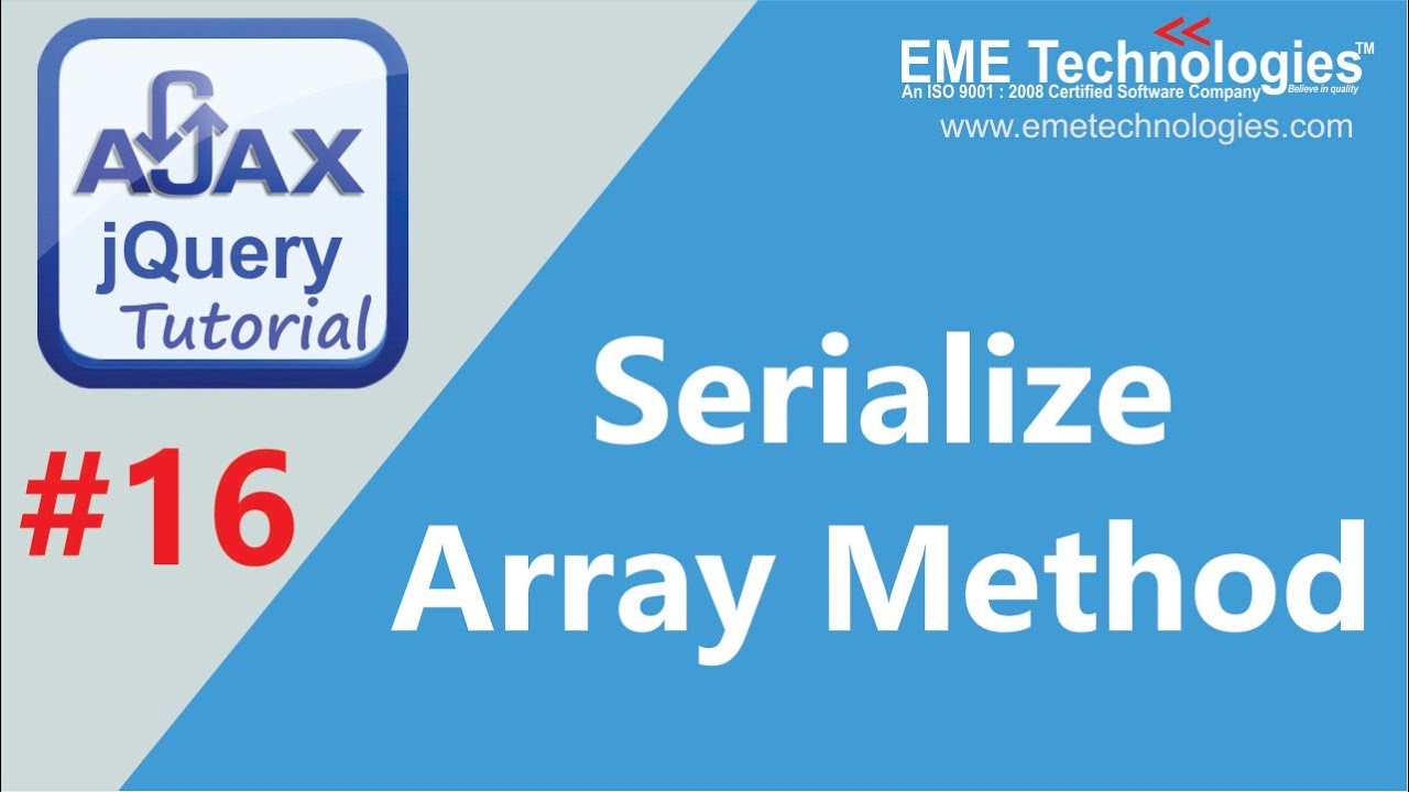 Jquery +Ajax Serialize Array Method | Core PHP