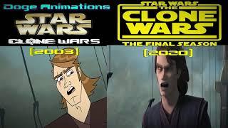 Clone Wars CGI vs Clone Wars (2003) [Fan-Made] Art Style - Comparison