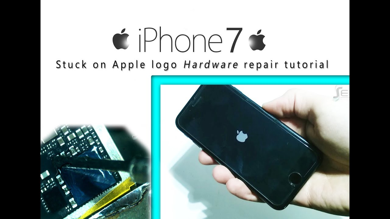 iPhone 7 Stuck on Apple logo Hardware Bootloop Repair Tutorial / se detiene  en el logo
