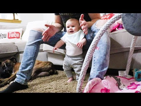 Baby Walking Before Crawling?! Standing at 4 Months!