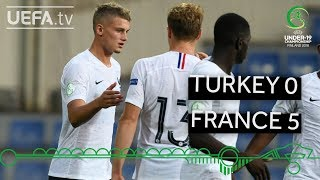 #U19EURO highlights: Turkey 0-5 France