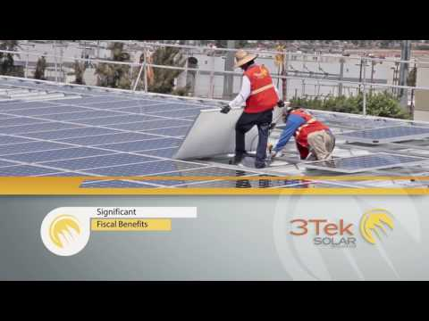 Solar Panels Plantronics in Tijuana Baja California México  by 3Tek SOLAR full