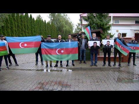 Перед посольством Армении в Варшаве состоялась акция протеста с требованием освобождения заложников