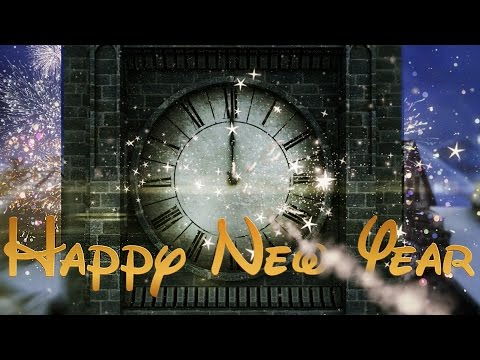 Happy New Year Clock 2018 ( v 497 ) Countdown Timer with Sound Effects  4k