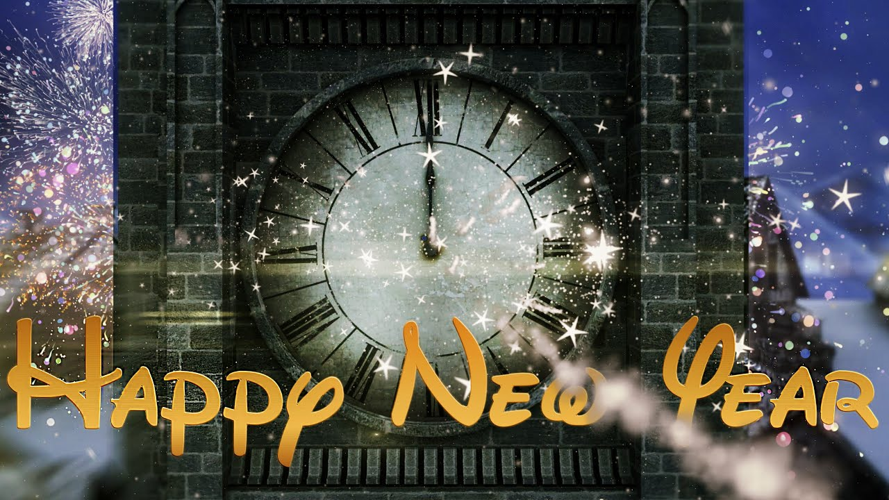 Happy new year clock 2018 v 497 countdown timer with sound effects 4k youtube - Happy new year sound europe ...