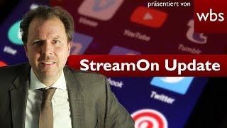 Wird StreamOn der Telekom morgen abgeschaltet? - Update zum neuen Beschluss | RA Christian Solmecke