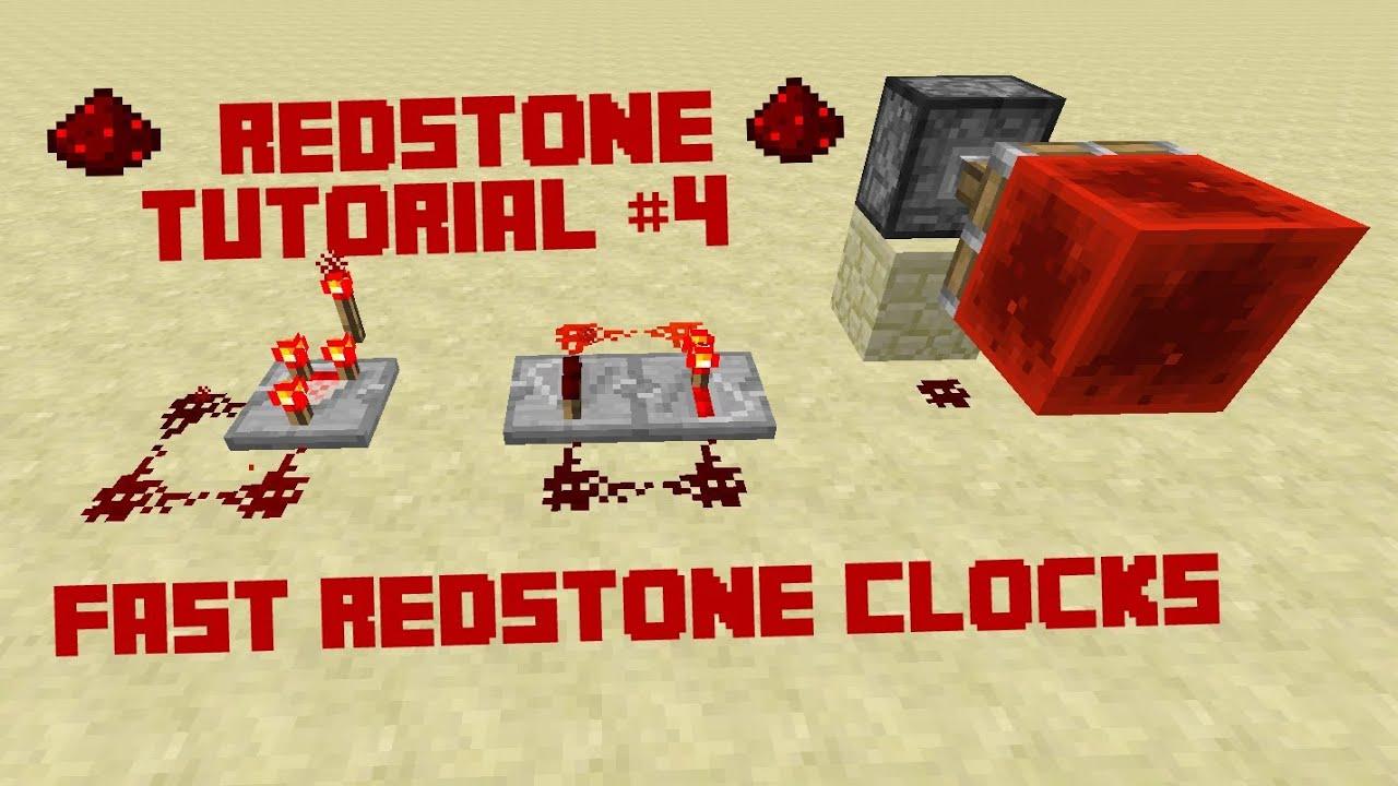 Minecraft Redstone Tutorial Really Fast Redstone Clocks