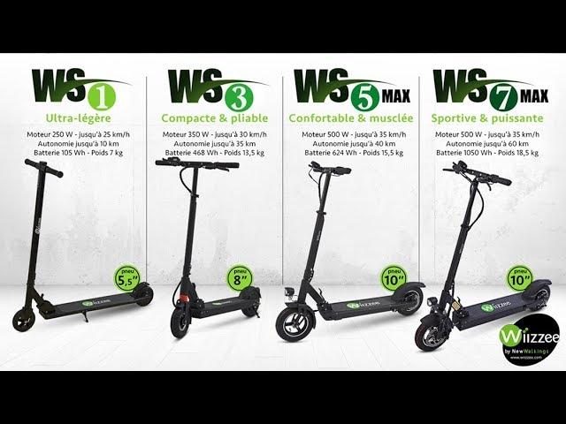 WIIZZEE - Gamme de trottinettes : WS1 / WS3 / WS5 max / WS7 max #1