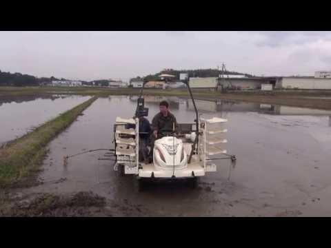 ㈱小林農産 GPS 自動操舵直進田植機