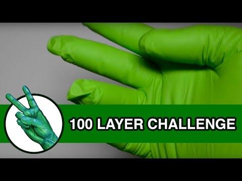 100 LAYERS OF GREEN GLOVES - Runforthecube Challenge