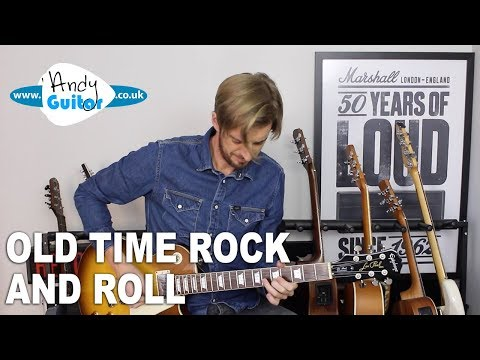 How to play Old Time Rock and Roll - Rhythm and Lead Guitar Tutorial Bob Segar