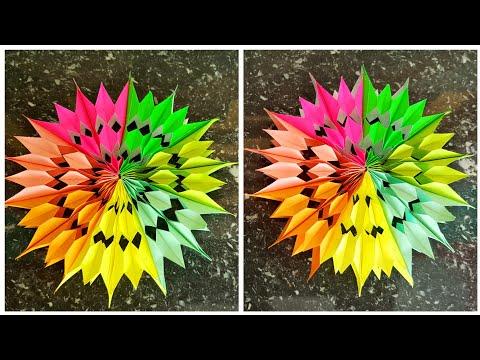 Diy paper star | Christmas decorations ideas | Diy star tutorial | Diy rainbow paper star