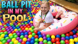 GIANT SWIMMING POOL BALL PIT!!