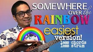 Somewhere Over the Rainbow Iz Ukulele Tutorial Easiest Version
