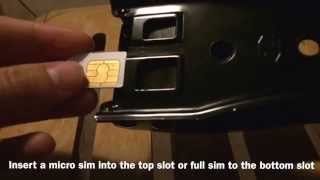 How to use a dual sim cutter - cutting a nano sim from micro or full sim (for iPhone 5 6)