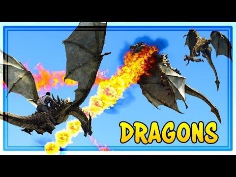 RIDING DRAGONS IN GTA 5! (GTA Mods)