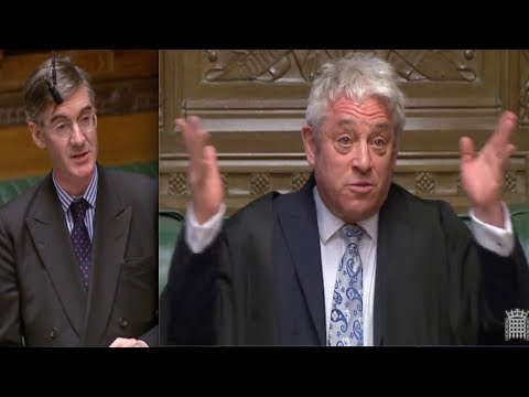BREXIT - Speaker Bercow's decisions ANGER Jacob Rees-Mogg, the high priest of the Tory Brexiteers