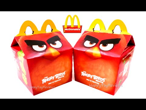 2016 Mcdonald S Angry Birds Action The Angry Birds Movie Happy Meal