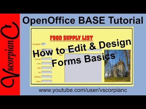OpenOffice Base Tutorial  - Edit And Design Database Forms By VscorpianC